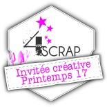 Logo invitée créative 4enscrap printemps 2017