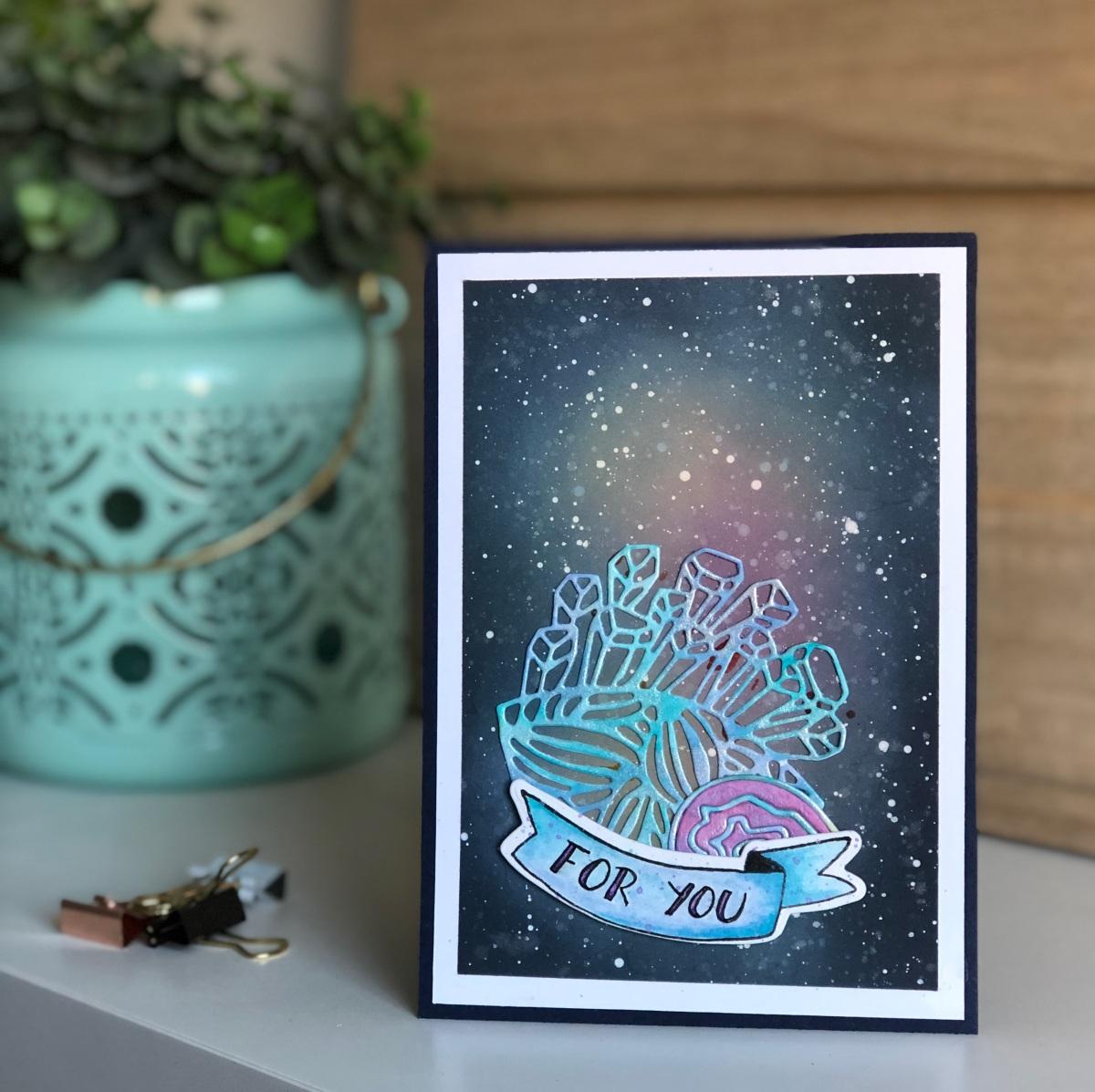 Carte cosmique et cristaux